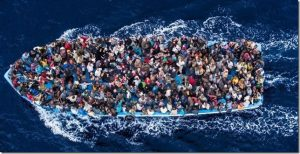Photo of a Boatload of Refugees
