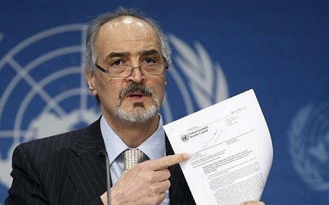 Syria's representative to the UN, Bashar Ja'afari