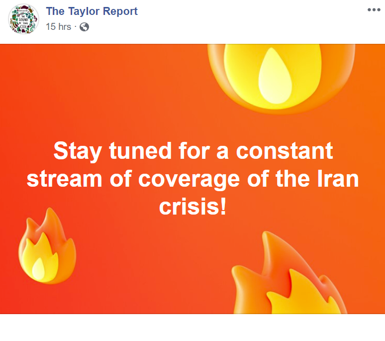 A post from the Taylor Report Facebook page